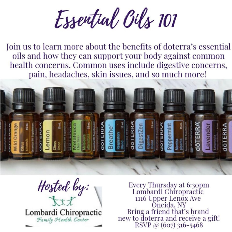 Essential Oils 101 at Lombardi Chiropractic